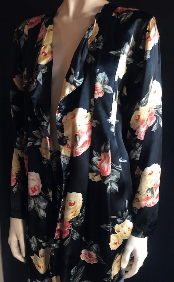 90's Gothic Grunge Floral Oversized Jacket