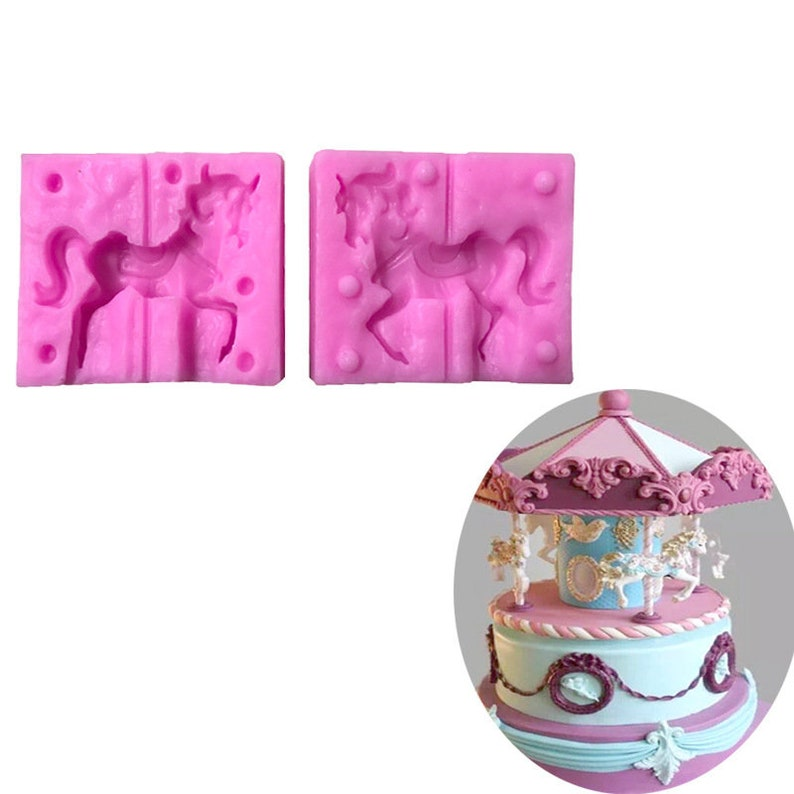 Small Horse Silicone Cake Mold Car Mold Baking Mold Arts, Crafts & Sewing