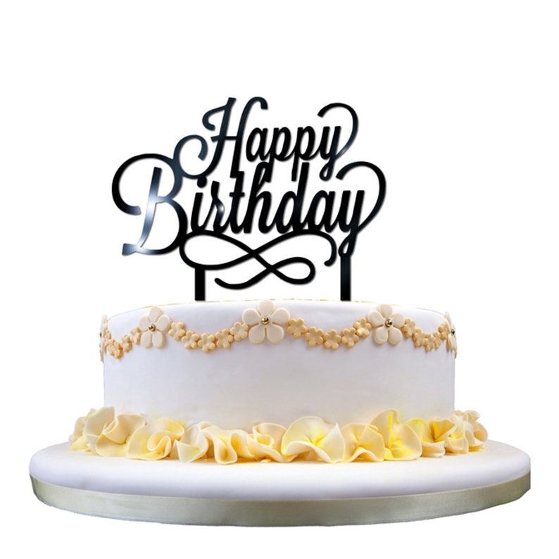 Amazing Happy Birthday Acrylic Cake Topper Decorating Supplies
