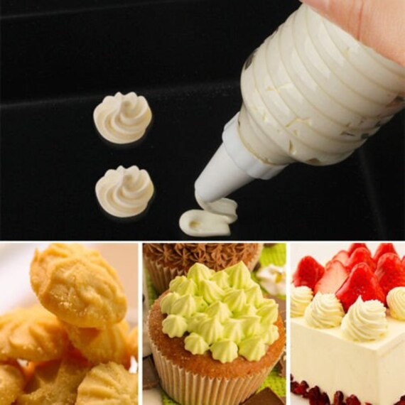 Buttercream Cake Tools Decorating Icing Piping Cream Syringe Tips 8 Nozzles Set Tool New Decorator Cupcakes Cookies