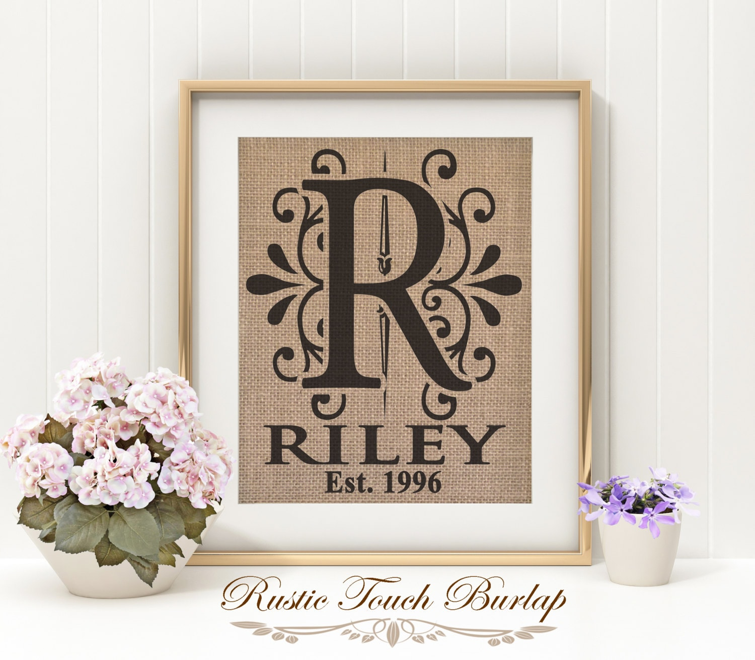 Personalized Wedding Gift Bridal Shower Gift Last Name