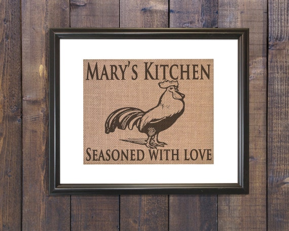 Rooster Kitchen Decor Rustic Kitchen Decor Country Kitchen Etsy