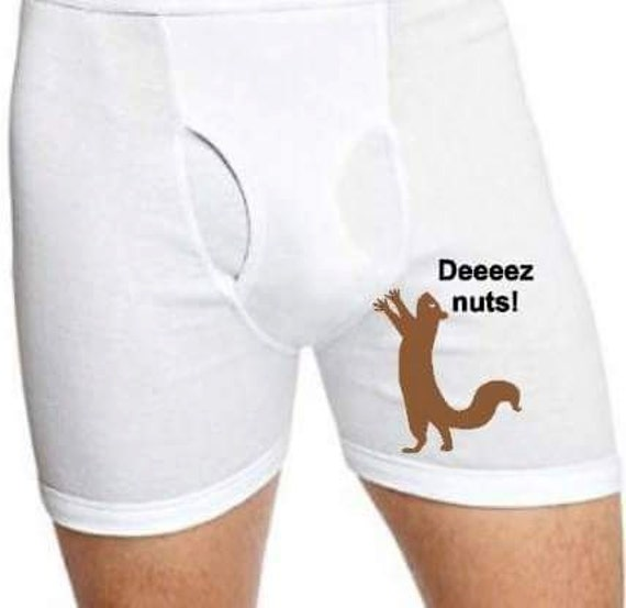 Custom Men S Boxer Briefs Deez Nuts Property Of Etsy