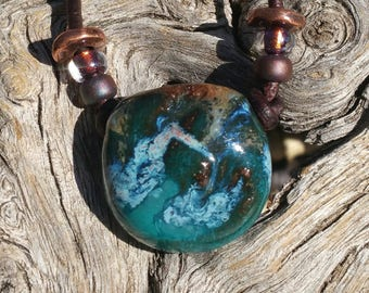 """Essential Oil diffuser necklace - """"Whispers of Magic"""" - Aromatherapy necklace  - Oil diffuser - Southwest - Earthy Boho - #j2"""