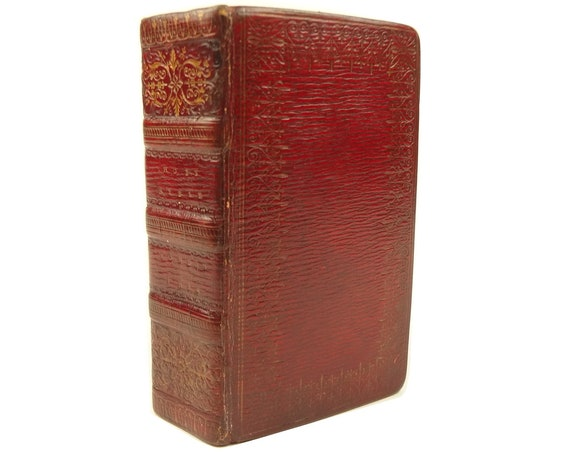 Fore-edge painting. 1814 Holy Bible. Miniature. King James Version.
