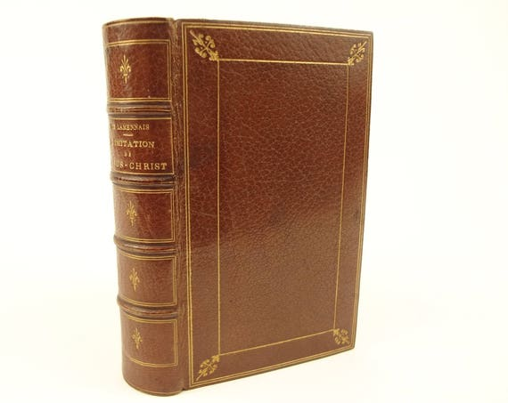 1864 Fine Binding. L'Imitation de Jesus-Christ (The Imitation of Christ), Thomas a Kempis. Mame, Tours