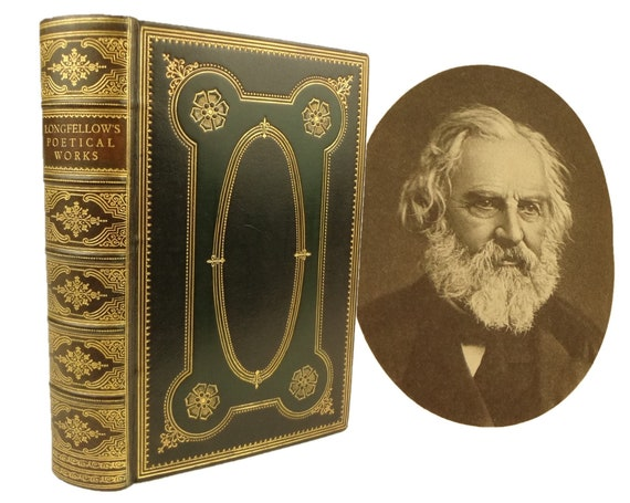 1925 Poetical Works of Longfellow. Fine binding, by Riviere & Son