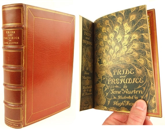 1894 Pride and Prejudice by Jane Austen, Hugh Thomson illustration first edition