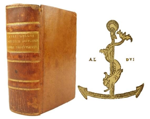1515 Noctium Atticarum Libri Undeviginti by Aulus Gellius (Attic Nights). Aldine (Aldus Manutius)