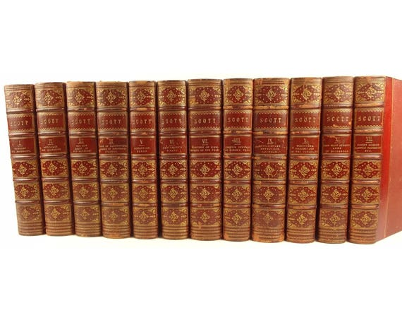 1842 Sir Walter Scott Waverley Novels, Abbotsford Edition. 1000s of illustrations