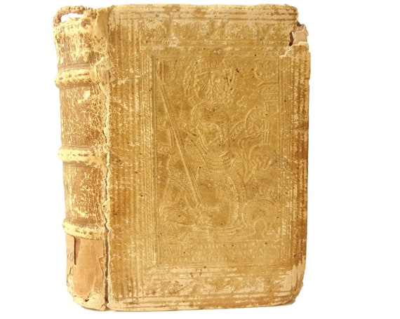 Charles V binding. 1574 Juris Canonici (Marco Antonio Cucchi) & Rubricae (Thomas Naogeorgus). Publisher Rouille