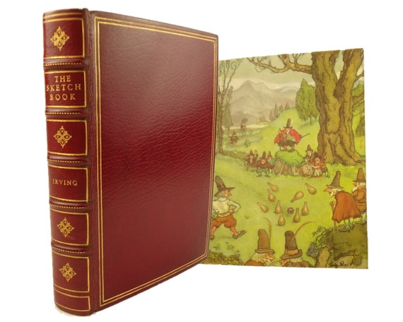 1939 The Sketch Book of Geoffrey Crayon, Gent. by Washington Irving. Fine binding