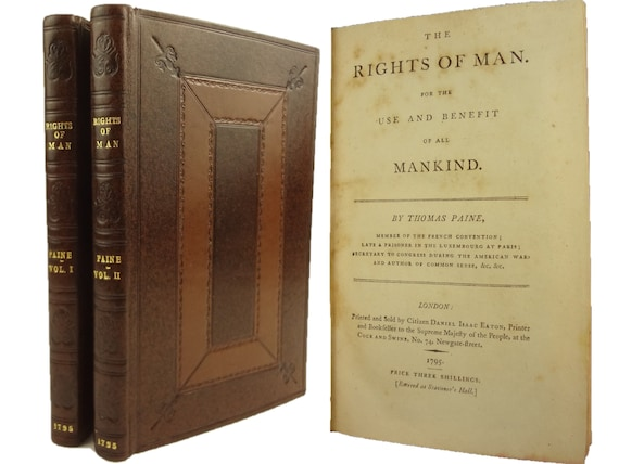 1792 The Rights of Man, Part the Second (printed by Jordan) and 1795 The Rights of Man (printed by Eaton), by Thomas Paine