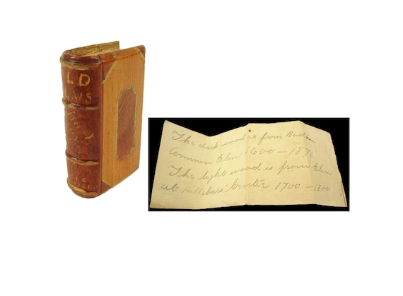 Boston Common Elm carved book, circa 1876. The Great Elm was sister to the Liberty Tree. Americana