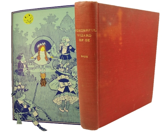 1900 The Wonderful Wizard of Oz, by L. Frank Baum. Likely first edition; early state of one plate.