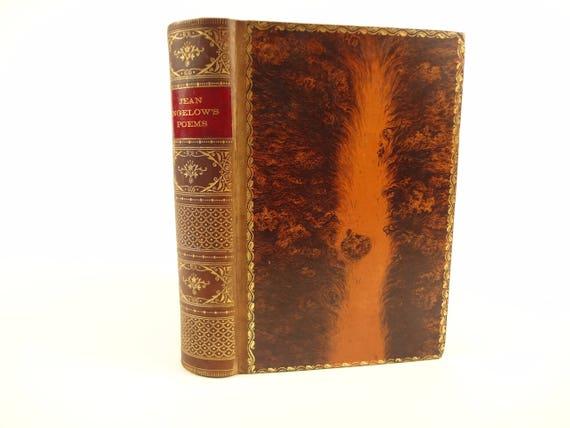 19th century tree calf binding, The Poetical Works of Jean Ingelow
