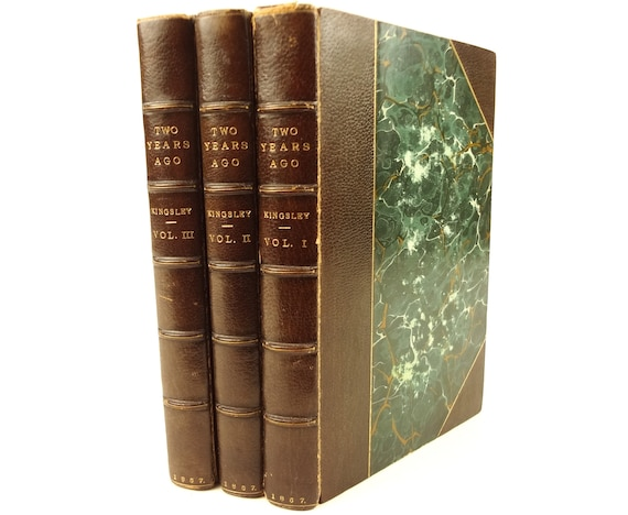 1857 Two Years Ago, Reverend Charles Kingsley. Macmillan. Fine binding. 1st ed.