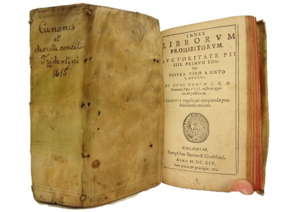 2-in-1, 1615 Concilii Tridentini Canones et Decreta, with 1614 Index Librorum Prohibitorum