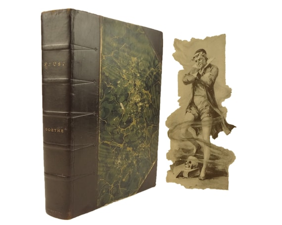 """1890 Faust by Goethe.""""Vignette edition, profusely illustrated"""". Stokes, New York"""