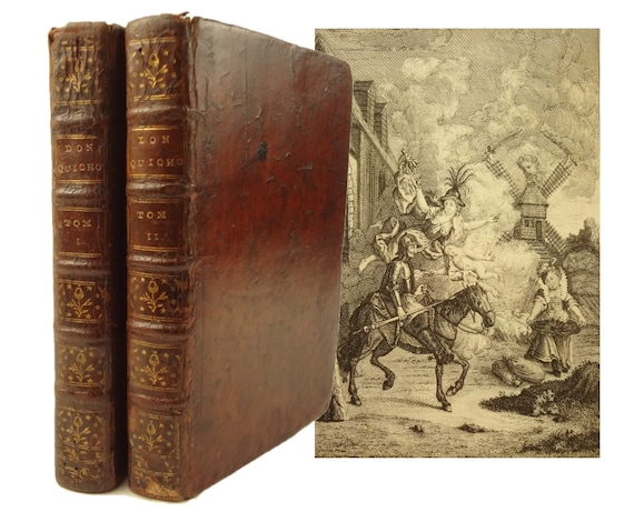 1774, Principales Aventures de Don Quichotte (Quixote), Miguel Cervantes. Illustrated - 31 engravings.