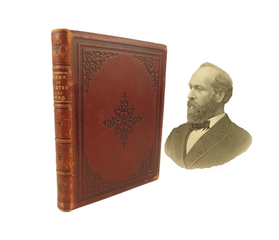 1881 In Memoriam, Gems of Poetry and Song on James A. Garfield. Lucretia Garfield's copy. Inscribed by editor/publisher.