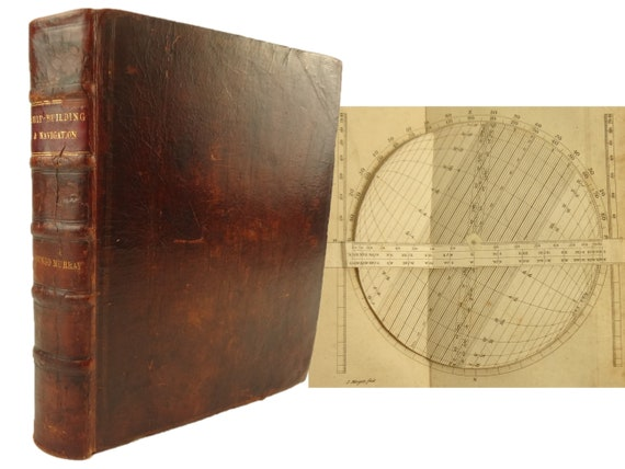 1765 A Treatise on Ship-Building and Navigation, Mungo Murrary. Millar, London. Volvelle.