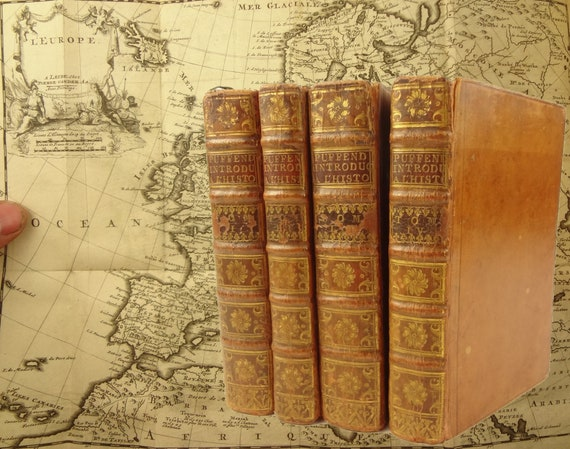 1710 Introduction a l'Histoire... l'Europe, Samuel Puffendorf. 19 fold-out maps, portraits.
