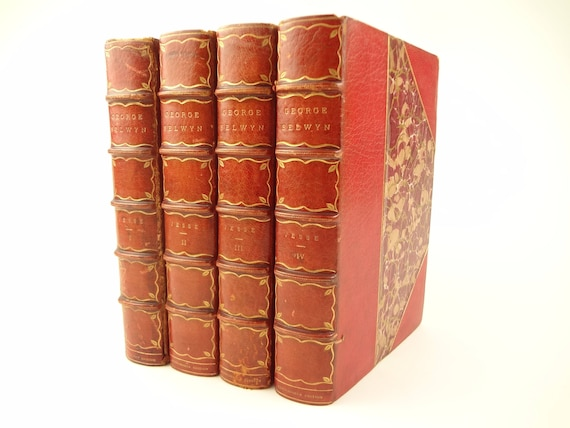 1895 George Selwyn by John Heneage Jesse. Limited edition, fine binding, Connoisseur Edition.
