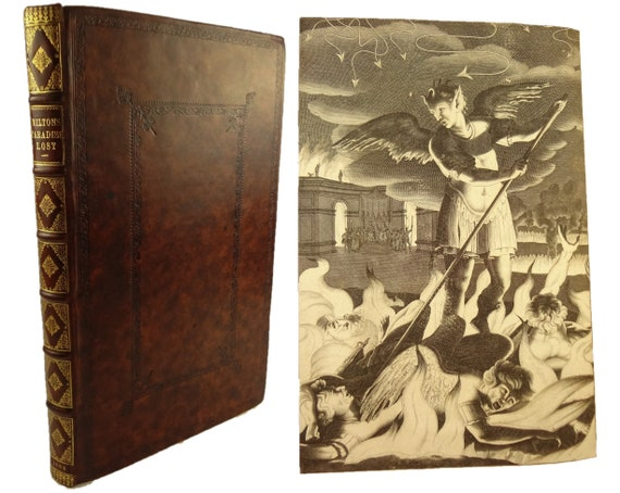 1688 Paradise Lost by John Milton. 4th Edition, First Illustrated Edition, Large Paper Copy. Folio.