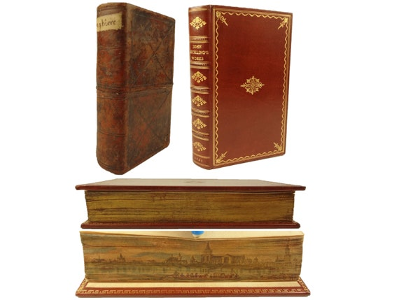 Fore-edge painting. 1719, Works of Sir John Suckling, Poems Letters & Plays. Jacob Tonson.