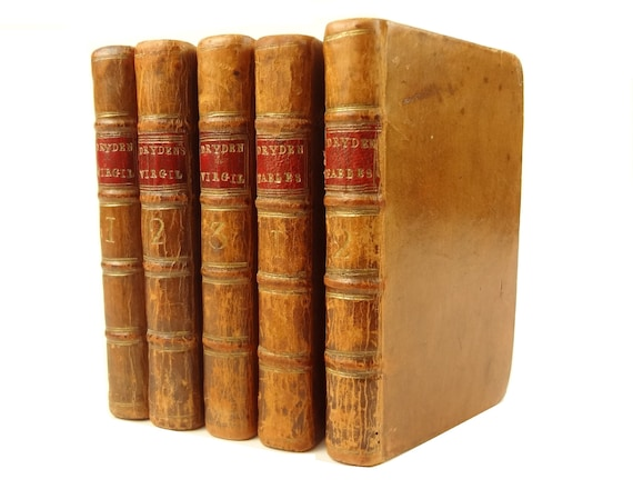 1771 Fables, by Dryden & his 1769 Works of Virgil (translation), both complete - five uniform volumes. Foulis, Glasgow