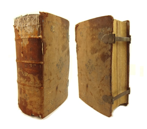 1827 Roman Breviary (Breviarium Romanum), gauffered, closure clasps