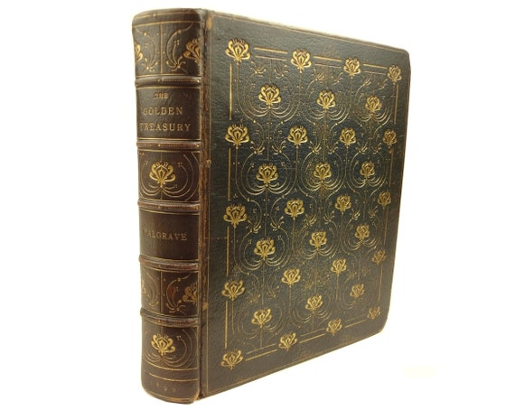 1890 Golden Treasury, Palgrave. Signed, limited edition, autographed letter. Zaehnsdorf exhibition binding.