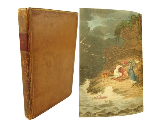 1813 Poetical Sketches of Scarborough; with 21 hand-colored plates etched by T. Rowlandson after Green sketches. Pochoir.