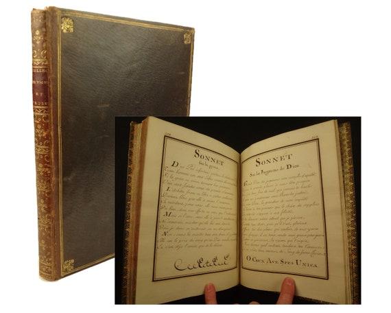1769, manuscript, Collection D' Hymnes et de Proses Choisies, a M. Dauvet.