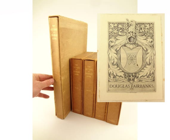 1905 Letters of Charles Lamb. Douglas Fairbanks Jr provenance. Private press, Limited Edition