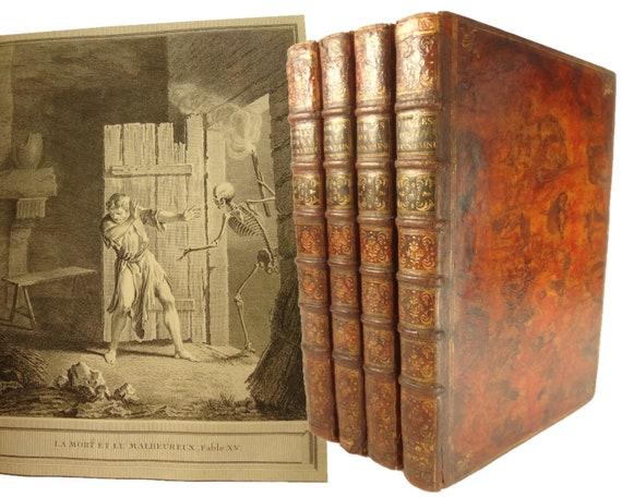 Folio. 1755-59 Fables Choisies Mises en Vers Par J. De La Fontaine. Jombert, Paris. Illustrated, tour de force of 18th century printing.