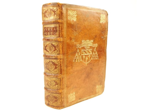 1581 Justinus (Justin), Trogi Pompeii. Notes by Jacques Bongars. 17th century prize binding.