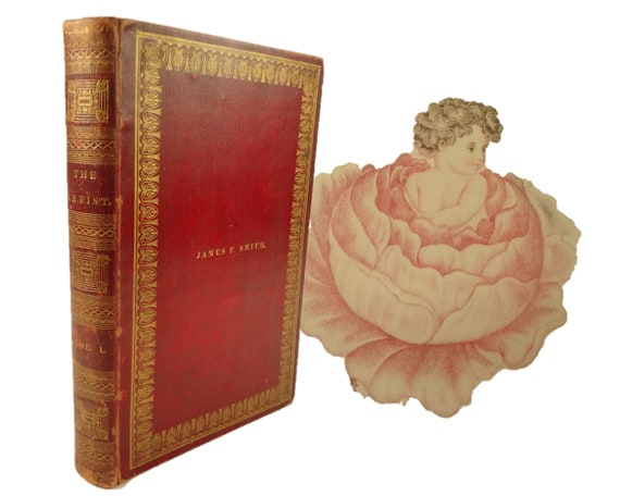 1842 The Artist, a monthly Lady's Book. The 1st six volumes, beautifully bound.