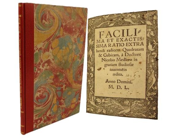 1550 Facilima et Exactissima Ratio Extrahendi Radicum Quadratam & Cubicam, Nicolaus Medler. Wittenberg.