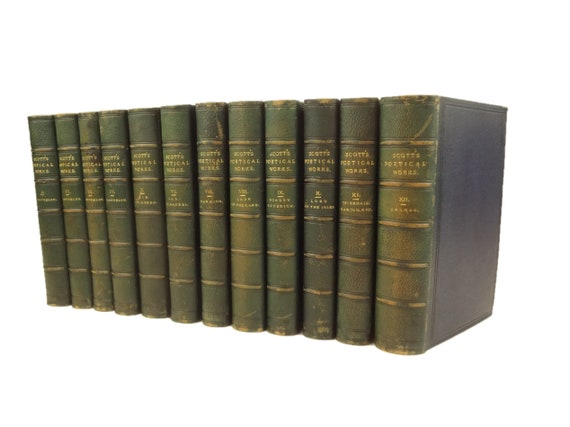 1833 Poetical Works, Sir Walter Scott. Robert Cadell. Bindings - Bickers & Sons