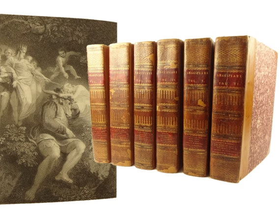 1807 William Shakespeare complete set, The Plays. Illustrated; large quarto size