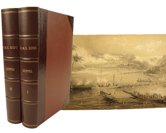 1st edition. 1846 Expedition to Borneo of HMS Dido for the Suppression of Piracy by Henry Keppel