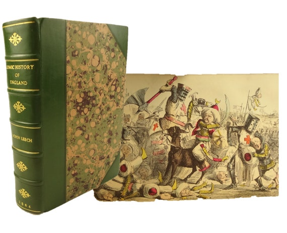 1864 The Comic History of England by A'Beckett. Illustrated with 20 pochoir etchings and two hundred engravings of John Leech.