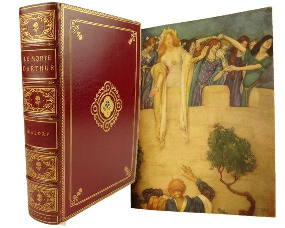 1929 Le Morte D'Arthur, The History of King Arthur and of his Noble Knights..., Thomas Malory. The Medici Society, Boston