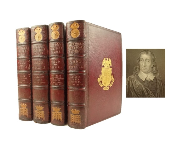 1852 Paradise Lost, Regained, John Milton. Notes of Various Authors, & Life...