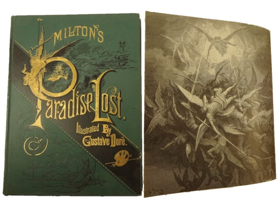 Paradise Lost by John Milton. Illustrated by Gustave Dore. Collier (19th cent.).