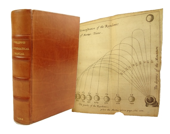 1684 A Mathematical Manual, Tables of Logarithmes by Henry Phillippes. Notable scientific libraries provenance.