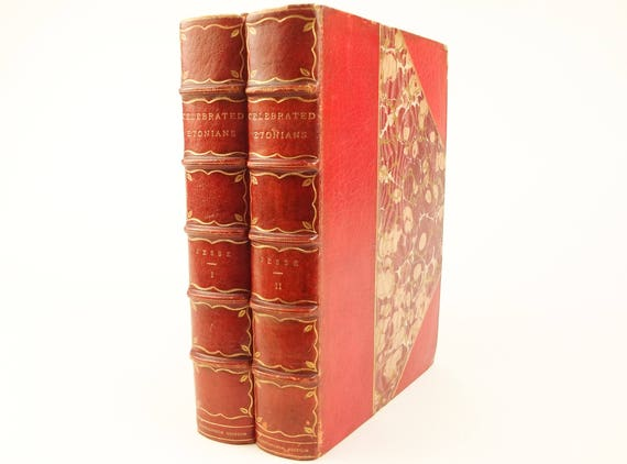 1882 Celebrated Etonians, H. Jesse. Fine binding, Connoisseur Edition, unopened, limited edition