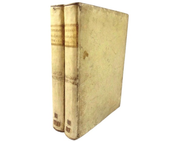 18th century codex (manuscript), Theologia Moralis. II vols.. Provenance. Theology (banned).